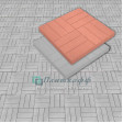 Тротуарная плитка «12 Кирпичей гладкий»