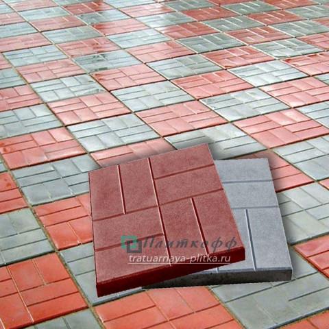 Тротуарная плитка «8 Кирпичей мелкий шагрень»
