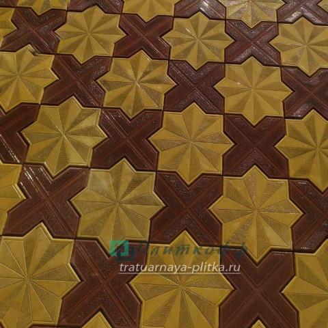 Тротуарная плитка Ромашка Крестик 300х300х45