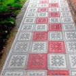 Тротуарная плитка Цветок Гжелка