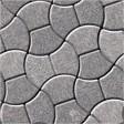 Тротуарная плитка «Руно с полосками»