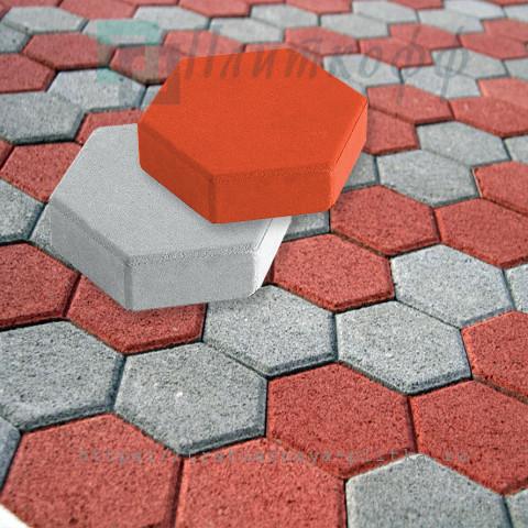 Тротуарная брусчатка шестигранник