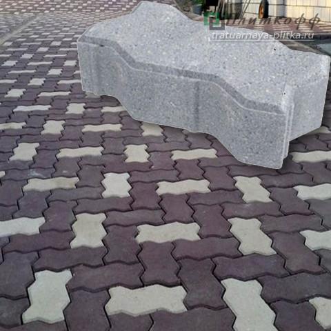 Тротуарная плитка «Волна» гладкая «Волна» шагрень